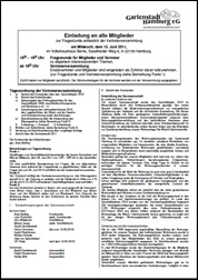 Einladung Kurzbericht 2010
